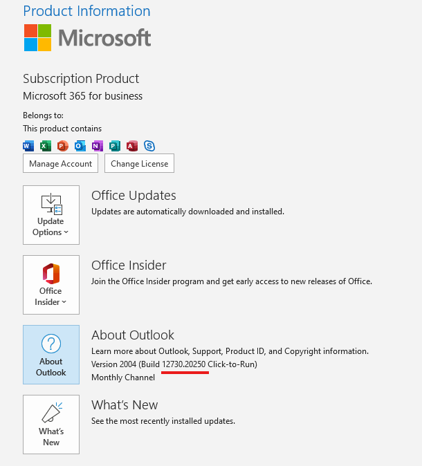 Outlook Build 12730.20250
