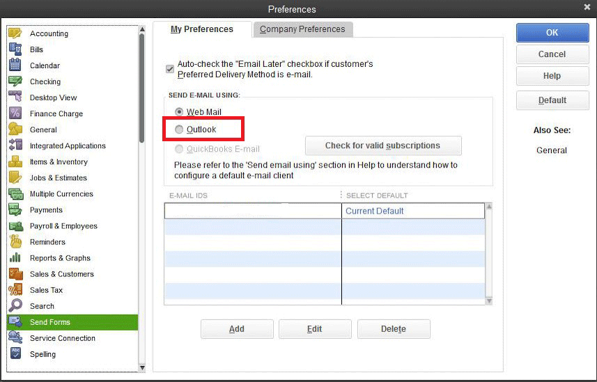 Quickbooks Outlook is not an Option