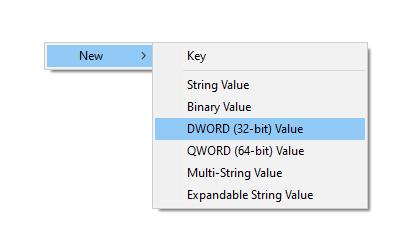 Registry Create DWORD