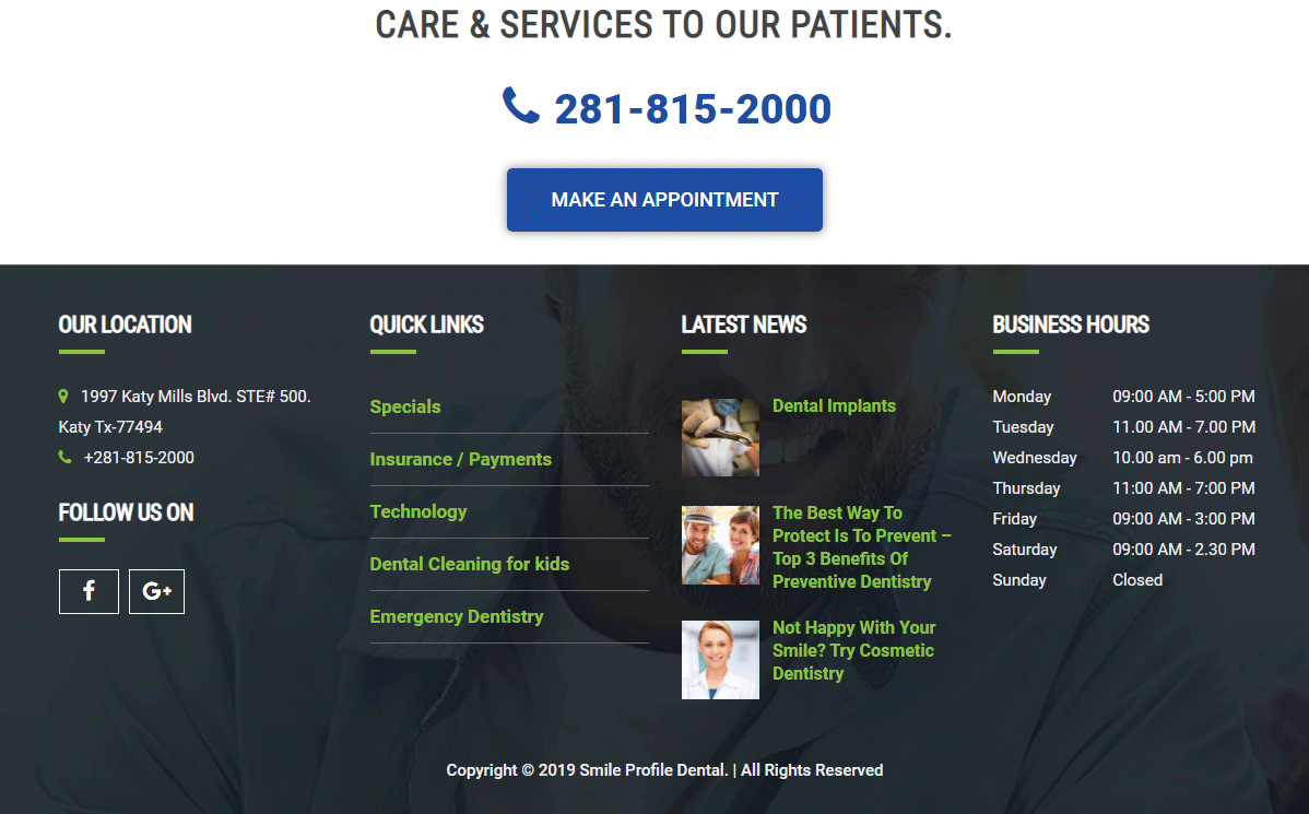 Dental Website #10