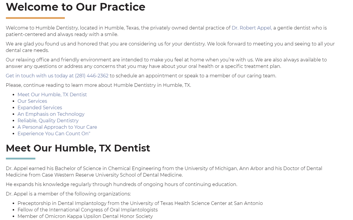 Dental Website #6