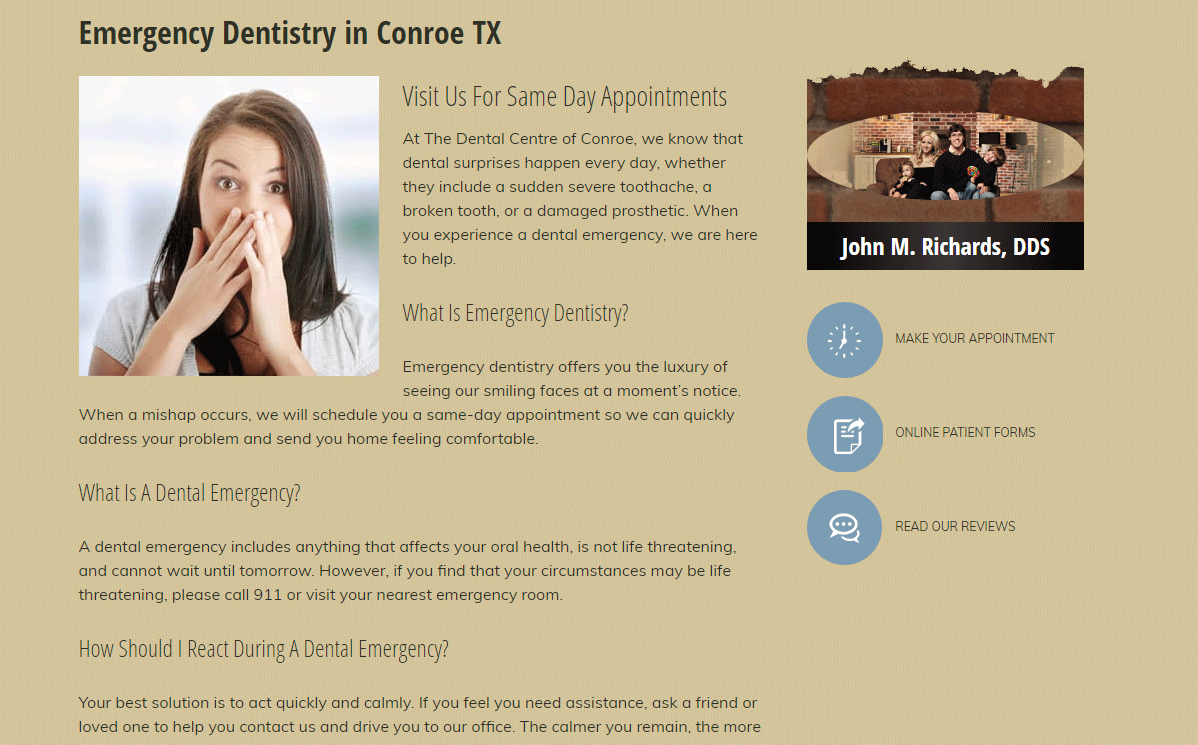 Dental Website #7