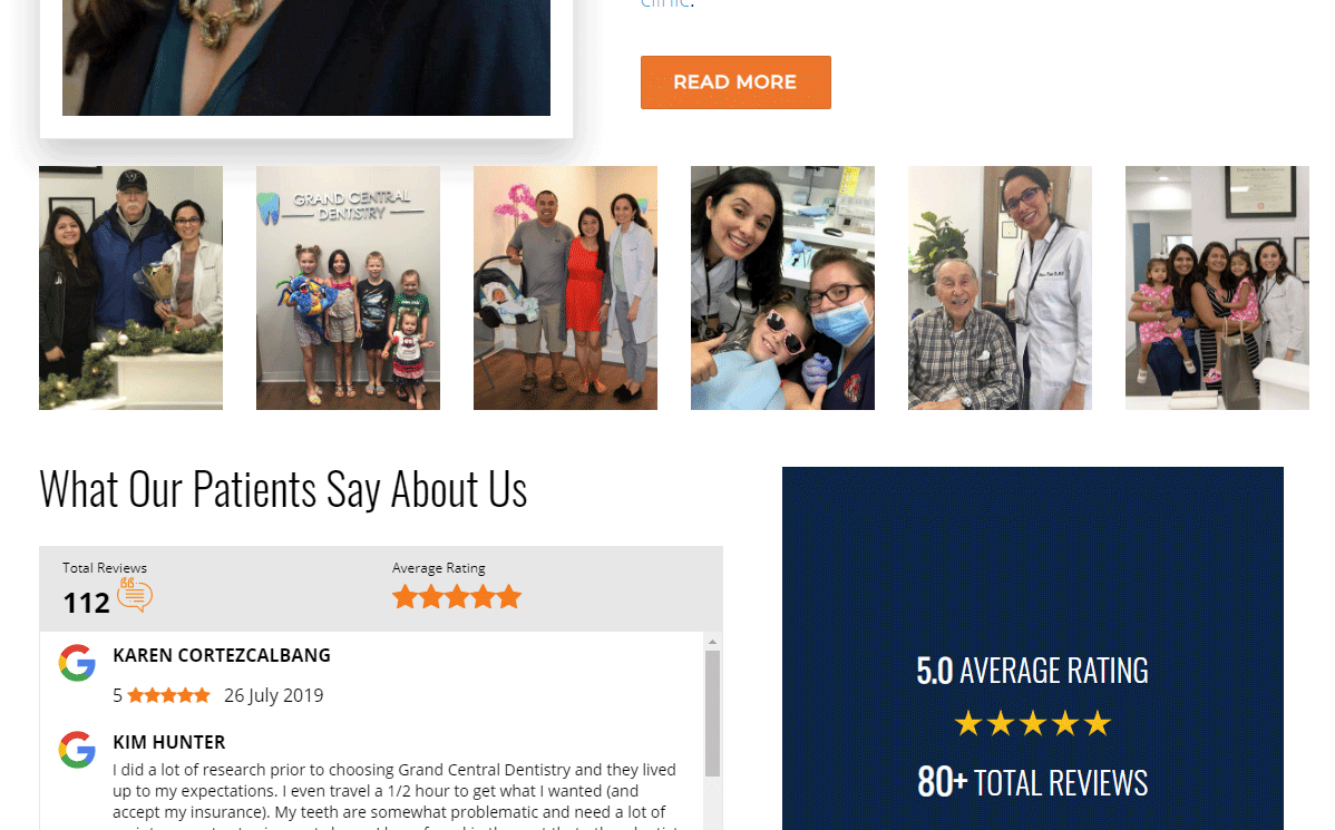 Dental Website #8